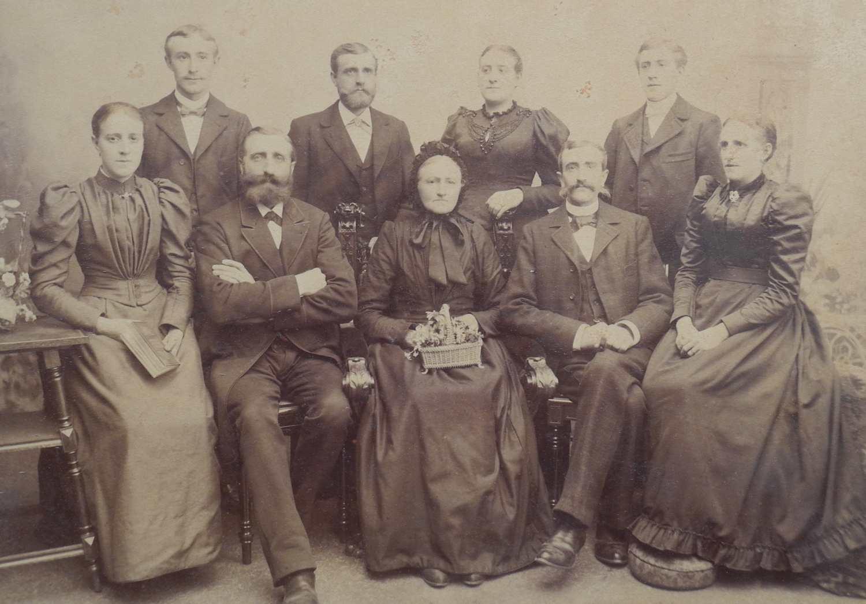 Bewohner von Olderdissens Kotten um 1900